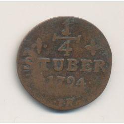 Allemagne - Julich Berg - 1/4 Stuber - 1794