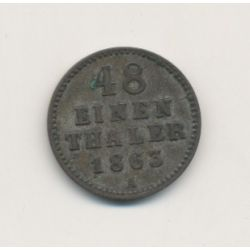 Allemagne - Mecklenburg Schwerin - 1/48 Thaler - 1863