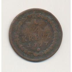 Allemagne - Pfalz Sulzbach - 1/2 Kreuzer - 1777