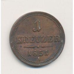 Autriche - 1 Kreuzer - 1851 A