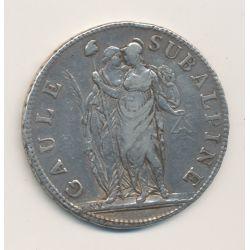 Italie - 5 Francs Gaule Subalpine - AN 10