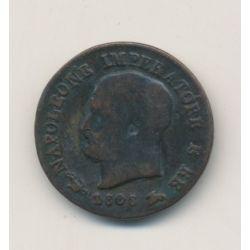 Italie - centesimo 1808 V - Napoleon empereur