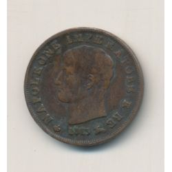 Italie - centesimo 1813 V - Napoleon empereur