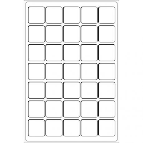 Plateaux TAB 35 Cases 39x39mm