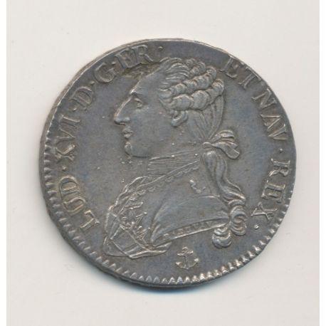 Louis XVI - 1/2 écu aux lauriers - 1790 H La Rochelle