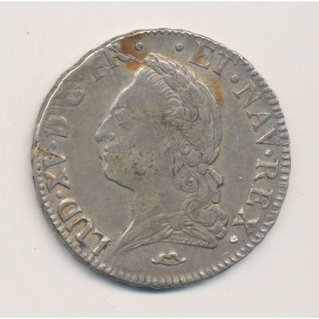 Louis XV - Écu à la vieille tête - 1772 N Montpellier