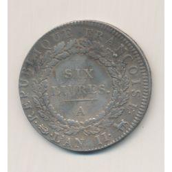 Écu de 6 livres - 1793 A Paris - convention