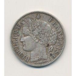 Cérès - 2 Francs - 1872 K Bordeaux - avec légende