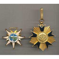 Bénin - Ordre national Dahomey commandeur + Médaille Port Cotonou
