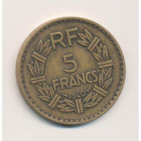 5 Francs Lavrillier - 1940