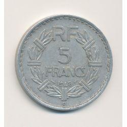 5 Francs Lavrillier - 1948 B - 9 ouvert