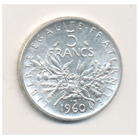 5 Francs Semeuse - 1960