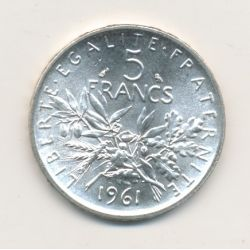 5 Francs Semeuse - 1961