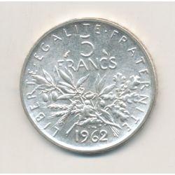 5 Francs Semeuse - 1962