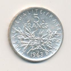 5 Francs Semeuse - 1963