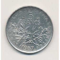 5 Francs Semeuse - 1987