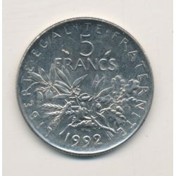 5 Francs Semeuse - 1992
