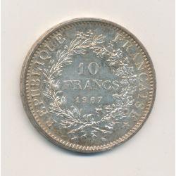 10 Francs hercule - 1967 - avec accent sur E de république