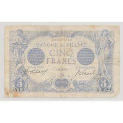 5 Francs Bleu - 28.12.1915