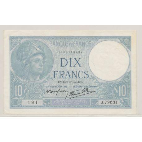 10 Francs Minerve bleu - 14.11.1940