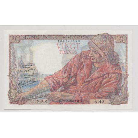 20 francs Pêcheur - 24.09.1942
