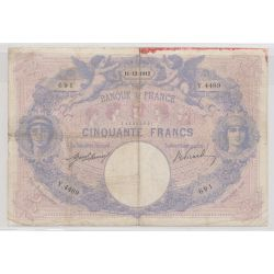 50 Francs Bleu et rose - 11.12.1912