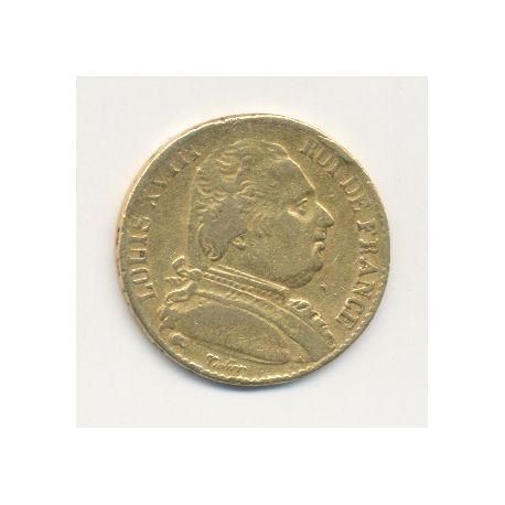 Louis XVIII - 20 Francs Or - 1815 K Bordeaux - Buste habillé