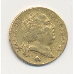 Louis XVIII - 20 Francs Or - 1818 L Bayonne - Buste nu