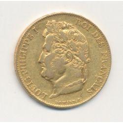 Louis philippe I - 20 Francs Or - 1834 B Rouen - Tête laurée