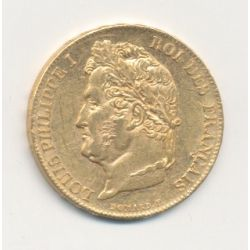 Louis philippe I - 20 Francs Or - 1840 A Paris - Tête laurée