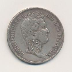 5 Francs Louis philippe I - 1831 A Paris avec contremarque aigle Napoléonien
