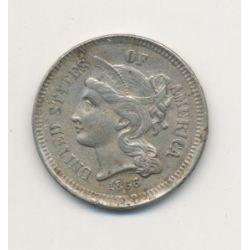 Etats-Unis - 3 Cents 1866