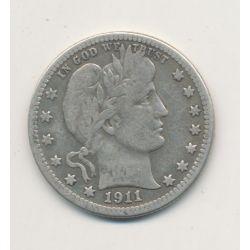 Etats-Unis - 1/4 Dollar 1911 S - San Francisco