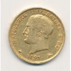 Italie - 20 Lire 1809 M Milan - Napoleone Imperatore
