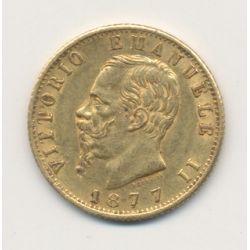 Italie - 20 Lires 1877 R - Vittorio Emmanuel II
