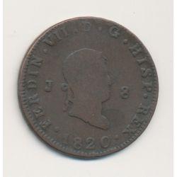 Espagne - 8 Maravédis 1820 - Ferdinand VII