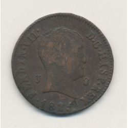Espagne - 8 Maravedis 1825 - Ferdinand VII