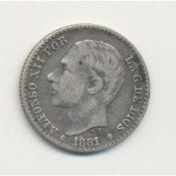 Espagne - 50 Centimos 1881 - Alfonso XII