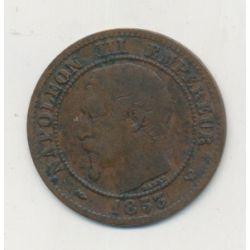 2 centimes Napoléon III - 1853 W Lille - Tête nue