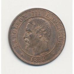 2 centimes Napoléon III - 1854 MA Marseille - Tête nue