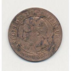 2 centimes Napoléon III - 1857 D Lyon ( petit d ) - Tête nue