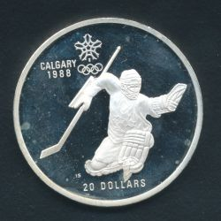 20 Dollars 1986 JO Hockey