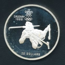 20 Dollars 1986 JO Biathlon