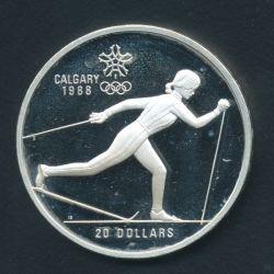 20 Dollars 1986 JO ski de fond