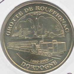 Dept24 - Grotte de Rouffignac N°4 - 2009 - les 2 mammouths et le train