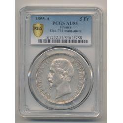5 Francs Napoléon III - 1855 A Paris - Tête nue - PCGS AU55 83615788