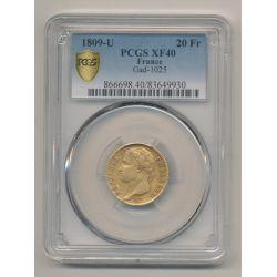 Napoléon empereur - 20 Francs Or - 1809 U Turin - PCGS XF40 83649930