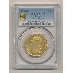 Louis XVI - Double louis d'or buste nu - 1786 H - PCGS AU55 83649923