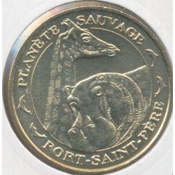 Dept44 - Planète sauvage N°4 - girafe et hippopotame - 2011 - Port st père