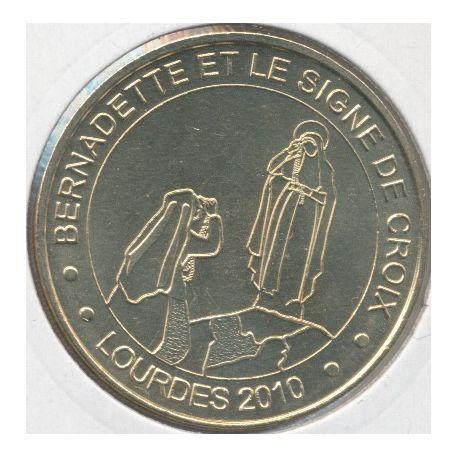 Dept65 - bernadette et le signe de croix - 2010 avec différent - Lourdes